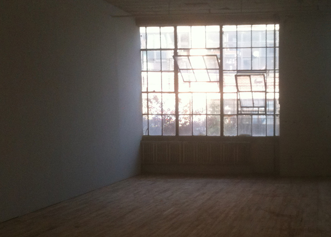 gallery space looking towards the windows